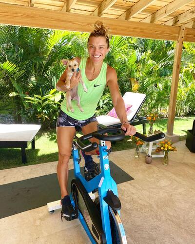 Holly + puppy on bike-min-1