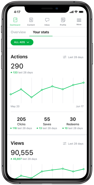 Insights Dashboard Your Stats Tab-1
