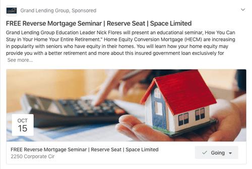 Mortgage broker ad on Nextdoor