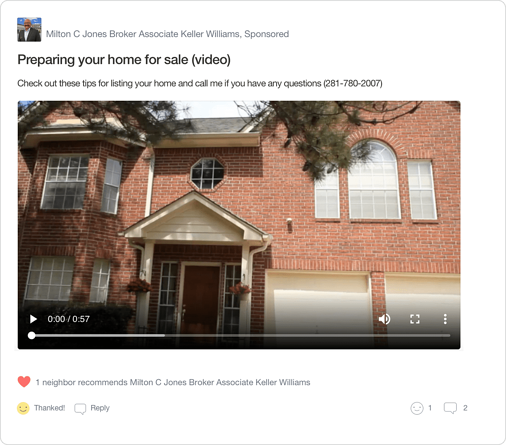 Nextdoor Real Estate Agent Local Expert Home Selling Video Post