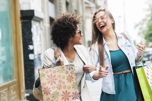Women shopping on Small Business Saturday